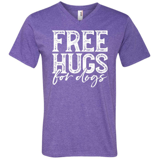 Free Hugs For Dogs V-Neck T-Shirt For Men - Ohmyglad