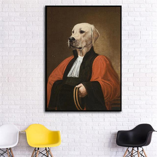 Funny Dog Wall Canvas Art - Ohmyglad