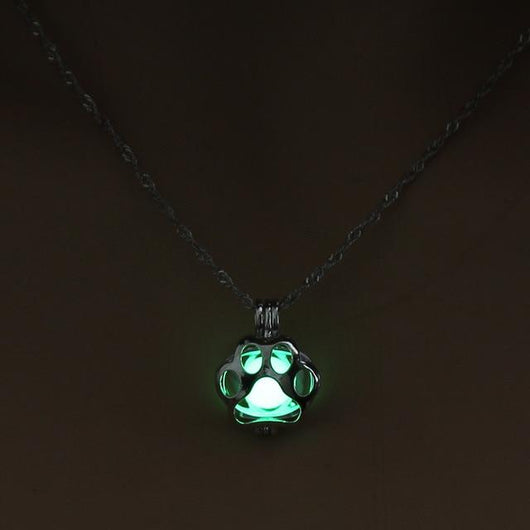 Glow In The Dark Paw Necklace - Ohmyglad