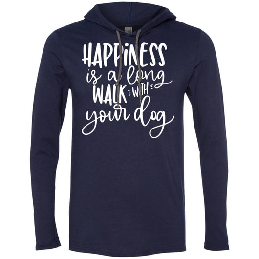 Happiness Is A Long Walk With Your Dog Hooded Shirt For Men - Ohmyglad