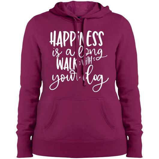 Happiness Is A Long Walk With Your Dog Hoodie For Women - Ohmyglad