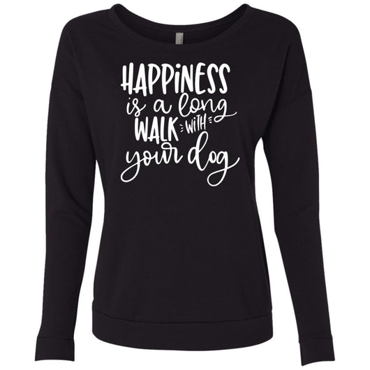 Happiness Is A Long Walk With Your Dog Sweatshirt For Women - Ohmyglad