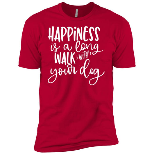 Happiness Is A Long Walk With Your Dog Unisex T-Shirt - Ohmyglad