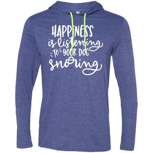 Happiness Is Listening To Your Dog Snoring	Hooded Shirt For Men - Ohmyglad