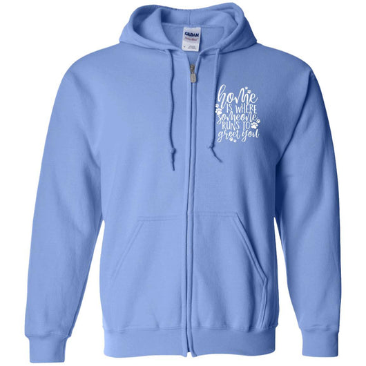 Home Is Where Someone Runs To Greet You Zip Hoodie For Men - Ohmyglad