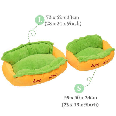 Hot Dog Bed For Dogs - Ohmyglad