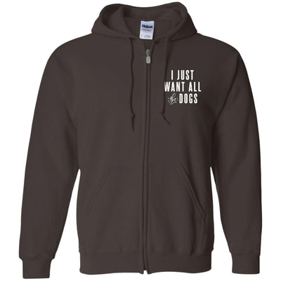 I Just Want All The Dogs Zip Hoodie For Men - Ohmyglad