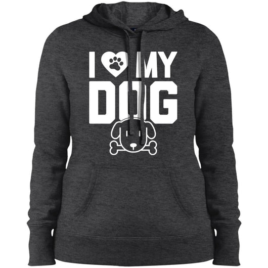 I Love My Dog Hoodie For Women - Ohmyglad