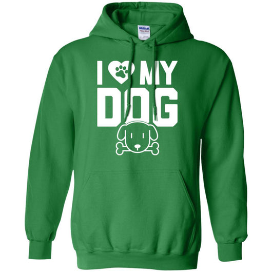 I Love My Dog Pullover Hoodie For Men - Ohmyglad