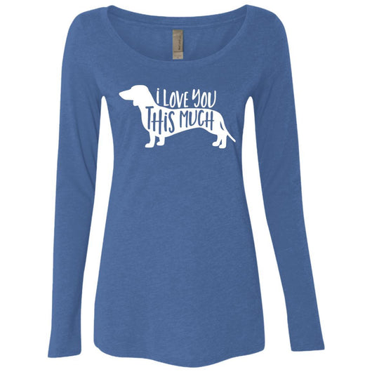 I Love You This Much Long Sleeve Shirt For Women - Ohmyglad