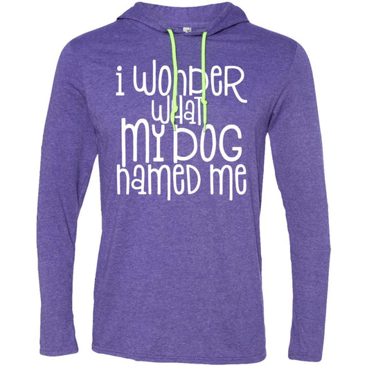 I Wonder What My Dog Named Me Hooded Shirt For Men - Ohmyglad