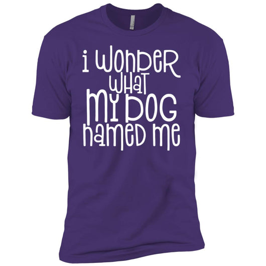 I Wonder What My Dog Named Me Unisex T-Shirt - Ohmyglad