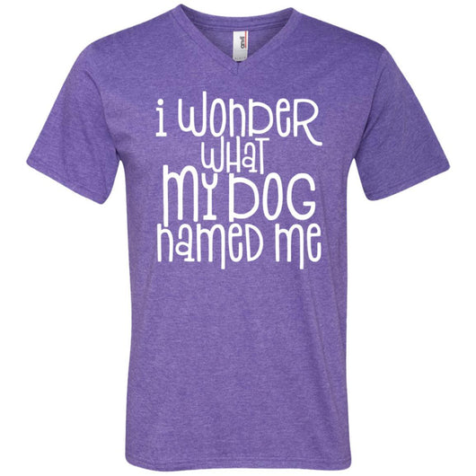 I Wonder What My Dog Named Me V-Neck T-Shirt For Men - Ohmyglad