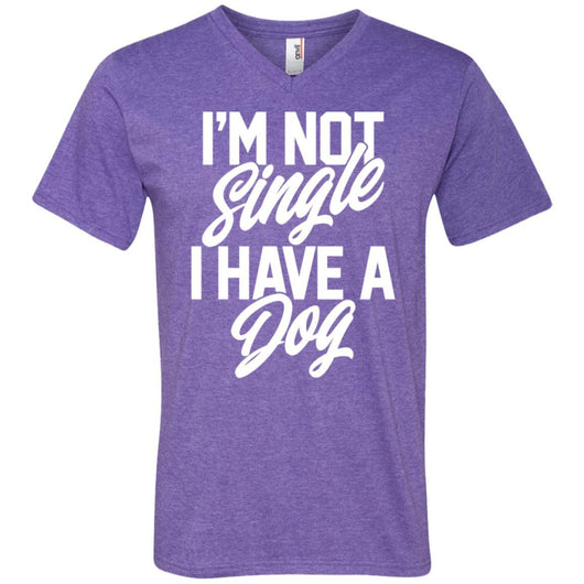 I'm Not Single I Have A Dog V-Neck T-Shirt For Men - Ohmyglad