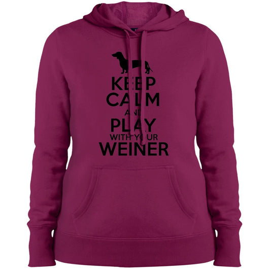 Keep Calm And Play With Your Weiner Hoodie For Women - Ohmyglad