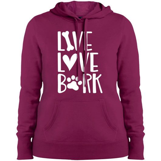 Live, Love, Bark Hoodie For Women - Ohmyglad