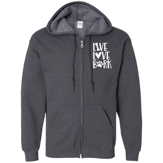Live, Love, Bark Zip Hoodie For Men - Ohmyglad