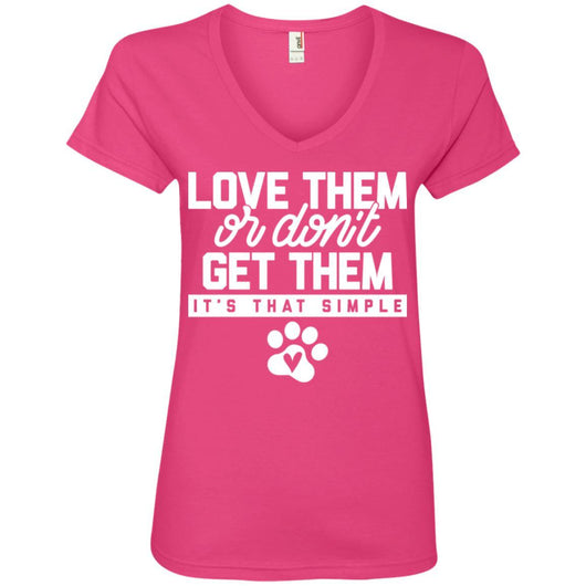 Love Them Or Don't Get Them V-Neck T-Shirt For Women - Ohmyglad