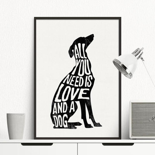 Minimalist Dog Canvas Wall Art - Ohmyglad