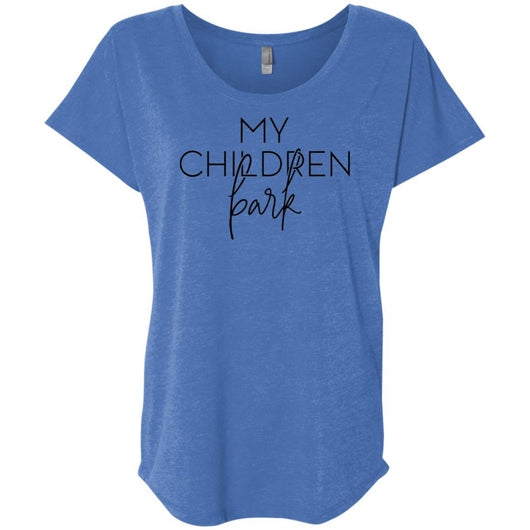 My Children Bark Slouchy T-Shirt For Women - Ohmyglad