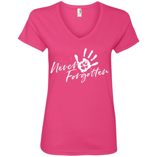 Never Forgotten... V-Neck T-Shirt For Women - Ohmyglad