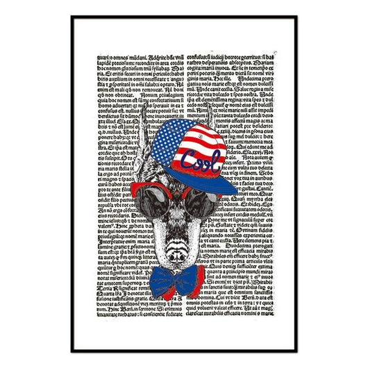 Newspaper Dog Wall Art Decor - Ohmyglad