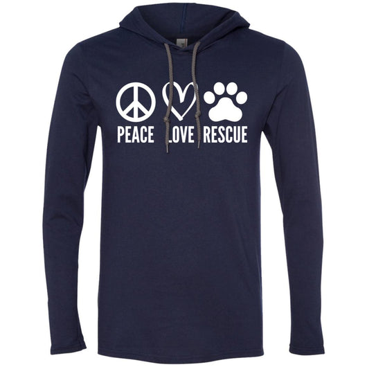 Peace, Love, Rescue Hooded Shirt For Men - Ohmyglad