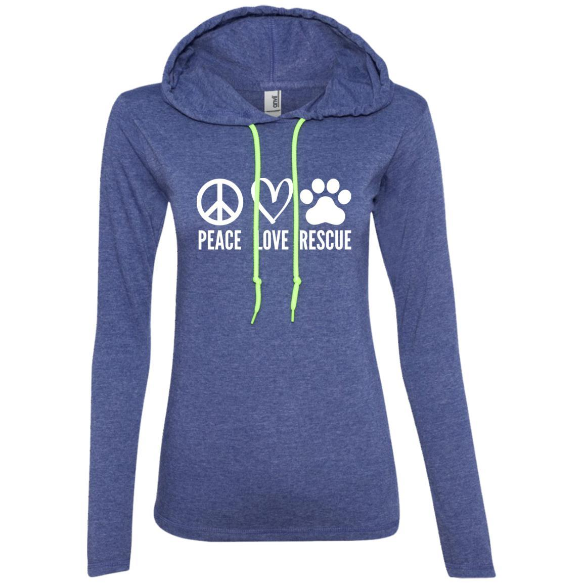 Peace, Love, Rescue Hooded Shirt For Women - Ohmyglad