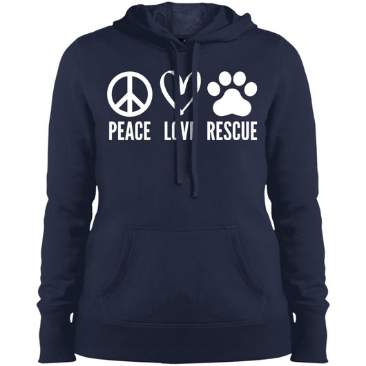 Peace, Love, Rescue Hoodie For Women - Ohmyglad
