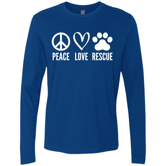 Peace, Love, Rescue Long Sleeve Shirt For Men - Ohmyglad