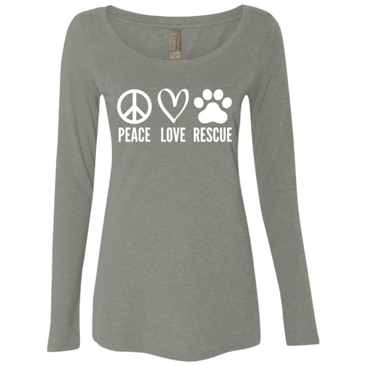 Peace, Love, Rescue Long Sleeve Shirt For Women - Ohmyglad