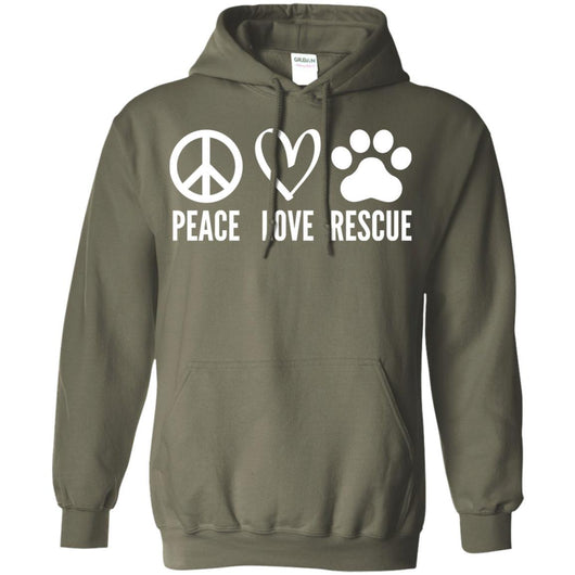 Peace, Love, Rescue Pullover Hoodie For Men - Ohmyglad