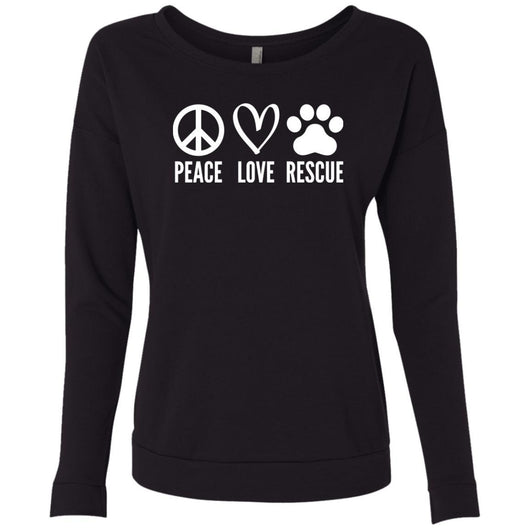 Peace, Love, Rescue Sweatshirt For Women - Ohmyglad