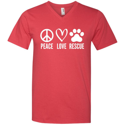 Peace, Love, Rescue V-Neck T-Shirt For Men - Ohmyglad