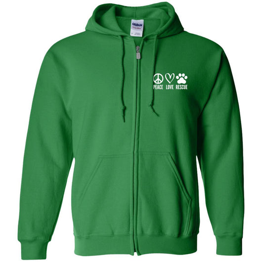 Peace, Love, Rescue Zip Hoodie For Men - Ohmyglad