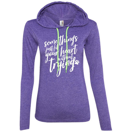 Some Things Just Fill Your Heart Without Trying Hooded Shirt For Women - Ohmyglad
