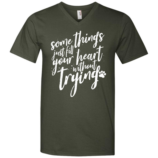 Some Things Just Fill Your Heart Without Trying V-Neck T-Shirt For Men - Ohmyglad