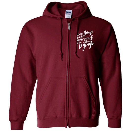 Some Things Just Fill Your Heart Without Trying	Zip Hoodie For Men - Ohmyglad