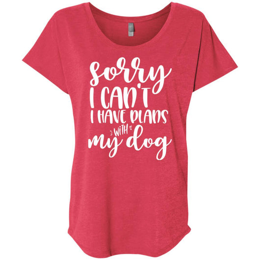 Sorry I Can't I Have Plans With My Dog Slouchy T-Shirt For Women - Ohmyglad