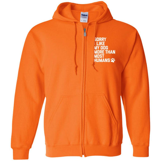 Sorry I Like My Dogs More Than Most Humans Zip Hoodie For Men - Ohmyglad