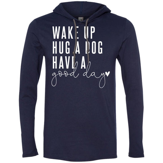 Wake Up, Hug A Dog Hooded Shirt For Men - Ohmyglad