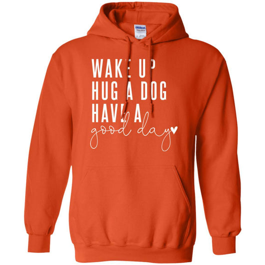 Wake Up, Hug A Dog Pullover Hoodie For Men - Ohmyglad