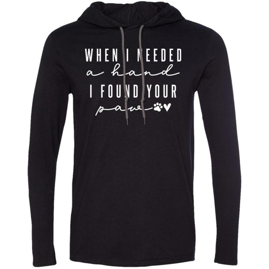 When I Needed A Hand, I Found Your Paw Hooded Shirt For Men - Ohmyglad