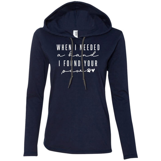 When I Needed A Hand, I Found Your Paw Hooded Shirt For Women - Ohmyglad