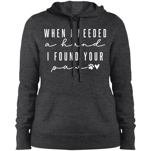 When I Needed A Hand, I Found Your Paw Hoodie For Women - Ohmyglad