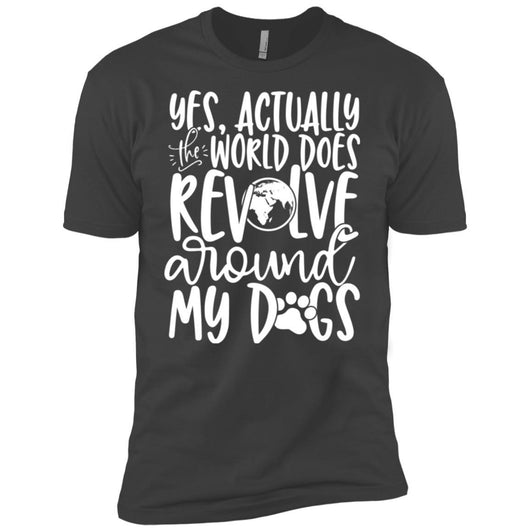Yes, Actually The World Does Revolve Around My Dogs Unisex T-Shirt - Ohmyglad