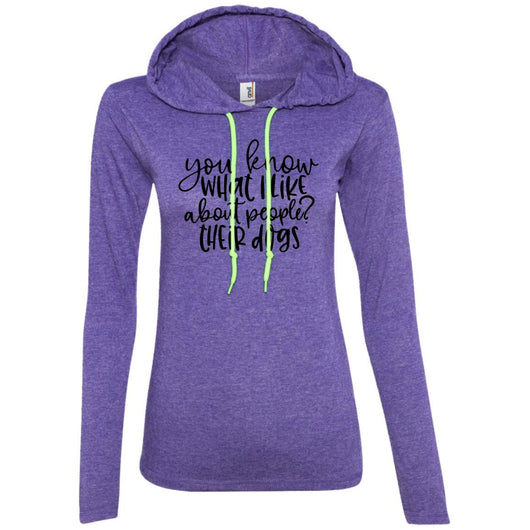 You Know What I Like About People ? Their Dogs Hooded Shirt For Women - Ohmyglad