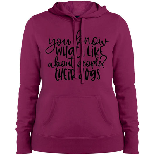 You Know What I Like About People ? Their Dogs Hoodie For Women - Ohmyglad