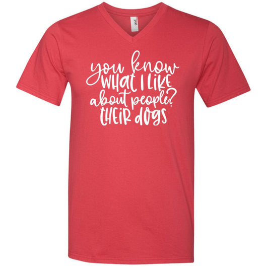 You Know What I Like About People ? Their Dogs V-Neck T-Shirt For Men - Ohmyglad