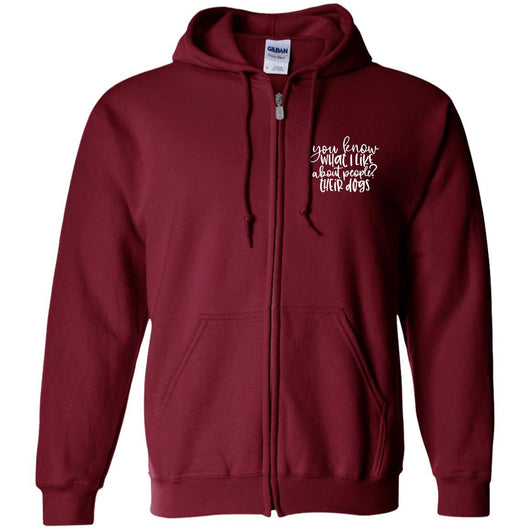 You Know What I Like About People ? Their Dogs Zip Hoodie For Men - Ohmyglad